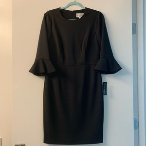 Donna Morgan NWT black dress with bell sleeves.